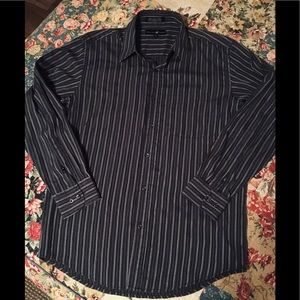 Polo Club stripe l/s shirt size Large